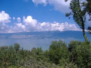 Vue sur le lac de Neuchatel