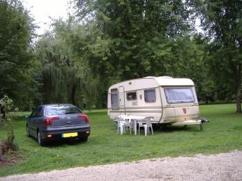 Emplacement au camping Le Pré du Roy
