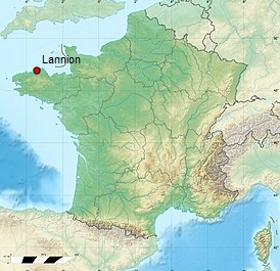Situation géographique de Lannion