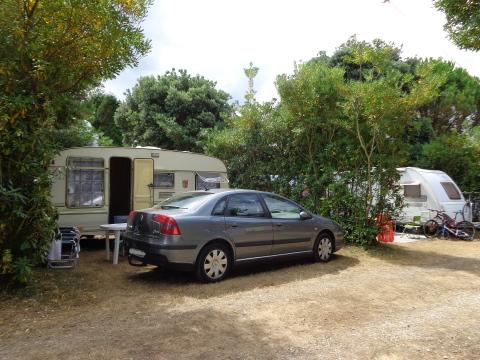 emplacement sur le camping Playa de Tauran, à Luarca