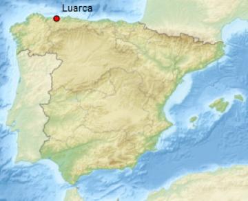 situation géographique de Luarca, en Espagne