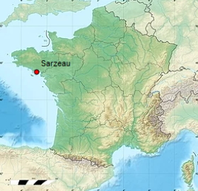 situation géographique de Sarzeau
